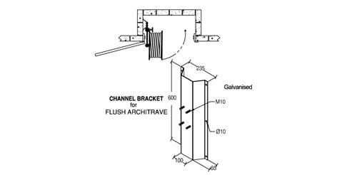 Fire Hose Reel Cavity Channel Bracket Galvin Concrete